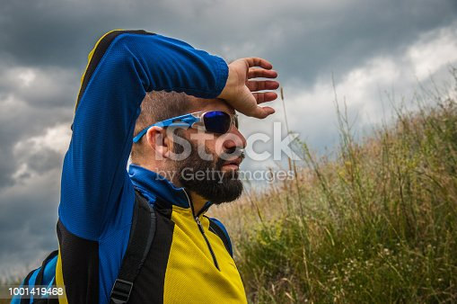 istock The mountaineer rests 1001419468
