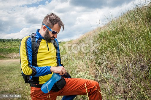 istock The mountaineer rests 1001419934
