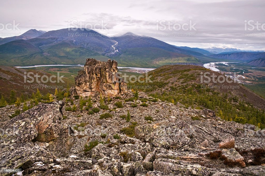 The mountainous terrain. stock photo