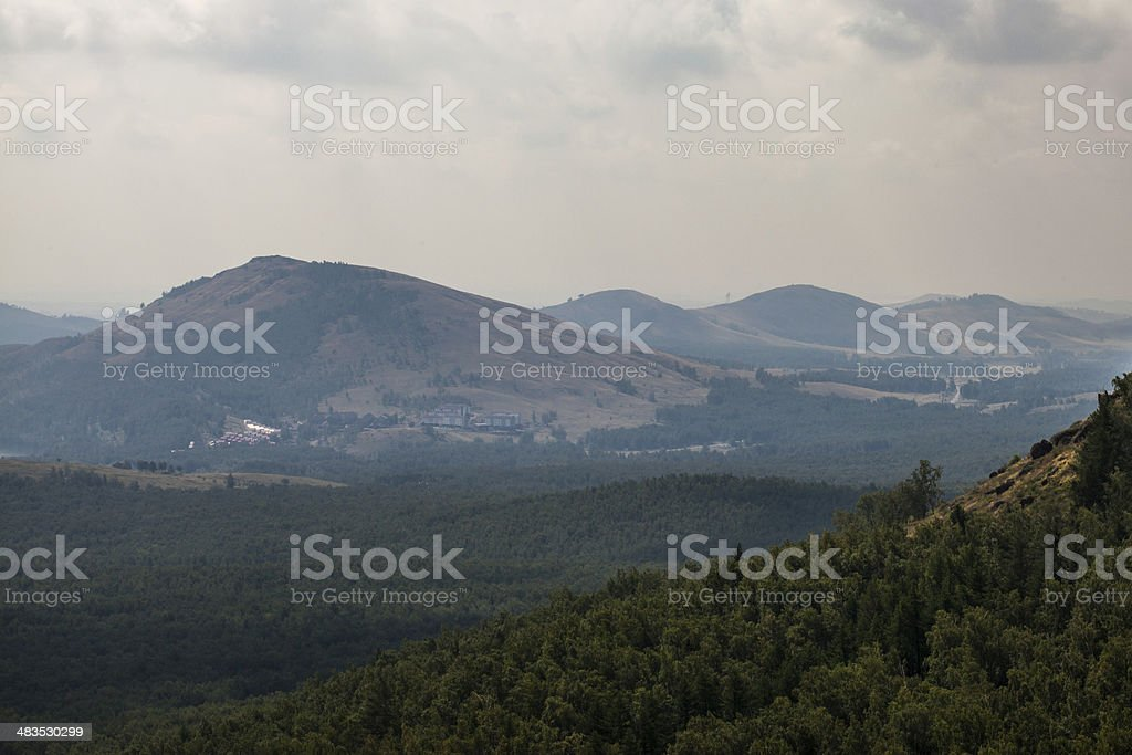 the mountains and hills stock photo