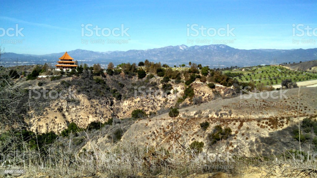 The Mountains As Seen From A SoCal Hilltop stock photo