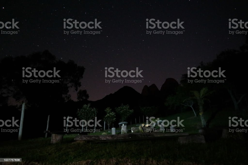 The mountains in the stars - As montanhas nas estrelas stock photo