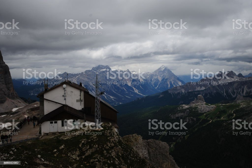 The Mountains of the Dolomites stock photo