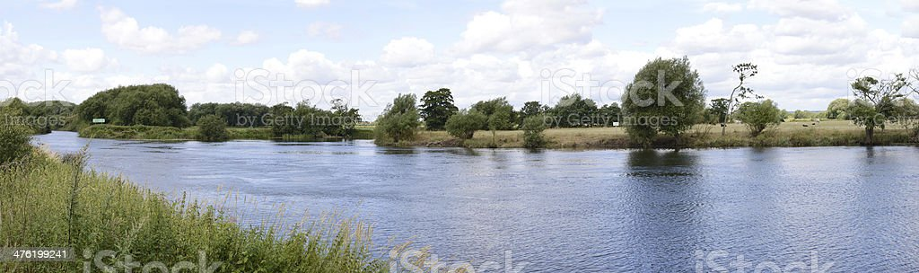 The mouth of River Derwent stock photo