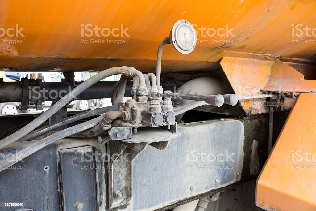 The Multi controler by Hydrolic handle control stock photo