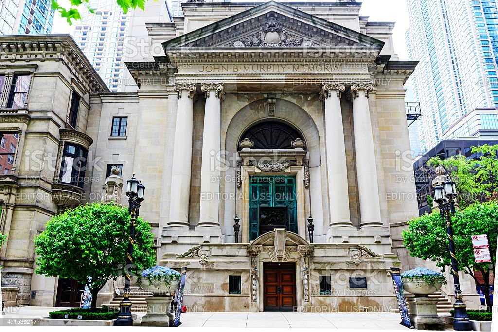 French Renaissance Style Building Downtown Chicago Royalty Free Stock Photo