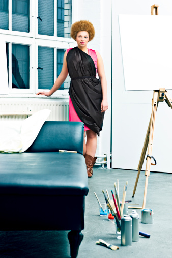 Muse in a Painter's Studio .