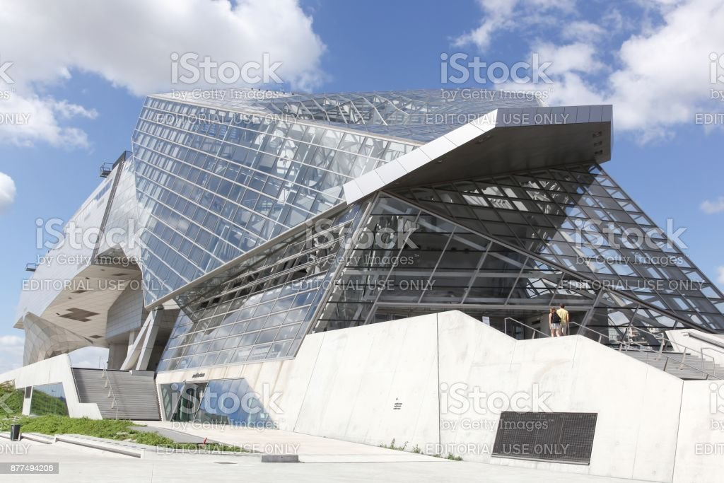 The Musee des Confluences in Lyon, France stock photo