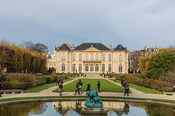 The Musee Rodin in Paris, France. stock photo