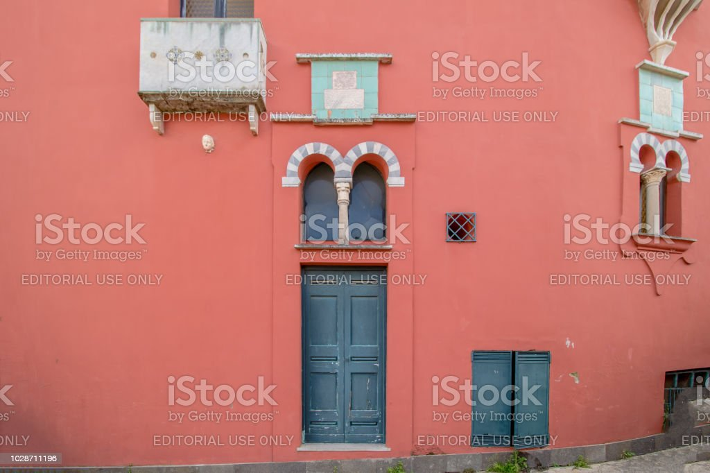 The museum Casa Rossa in Anacapri on the island of Capri, Italy - foto stock