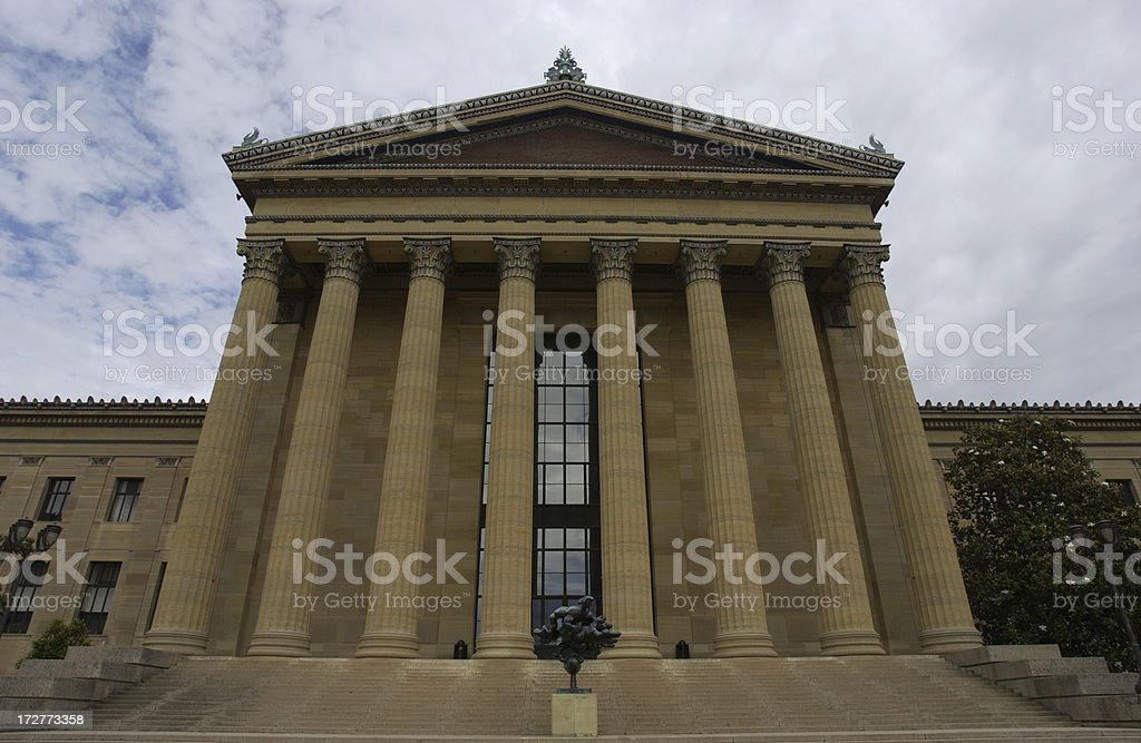 the museum of art in Philadelphia stock photo
