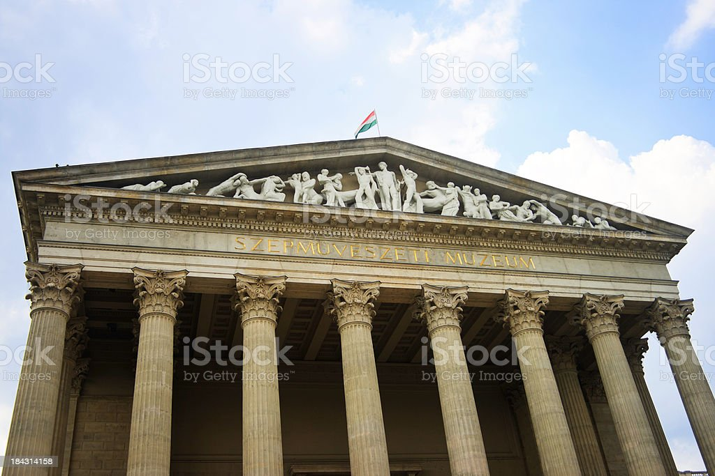The Museum of Fine Arts, Budapest, Hungary stock photo