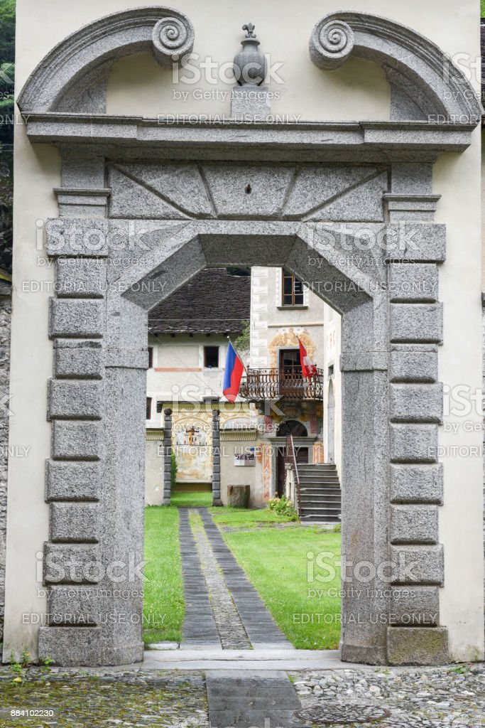 The museum of Maggia valley at Cevio stock photo