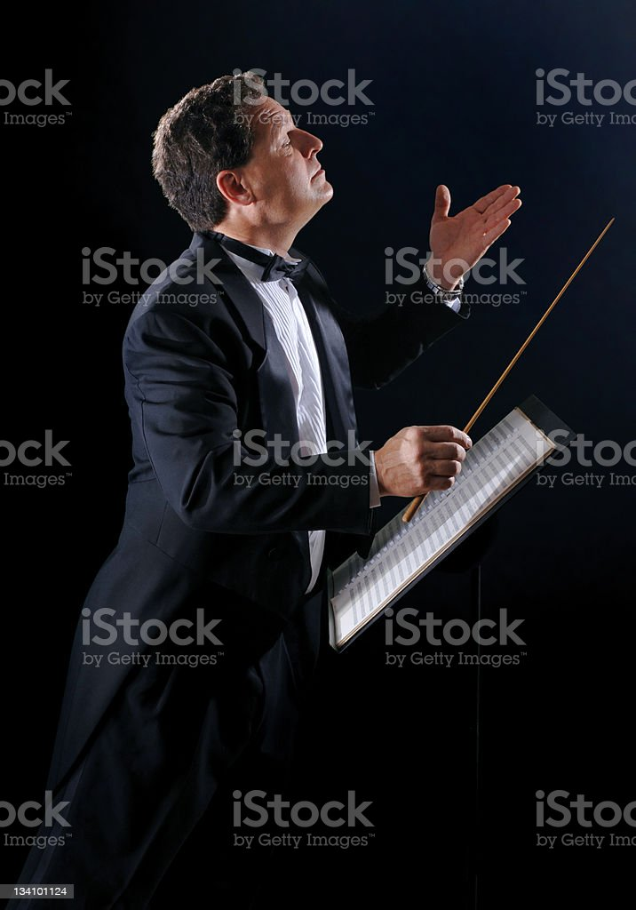 The Music Conductor stock photo