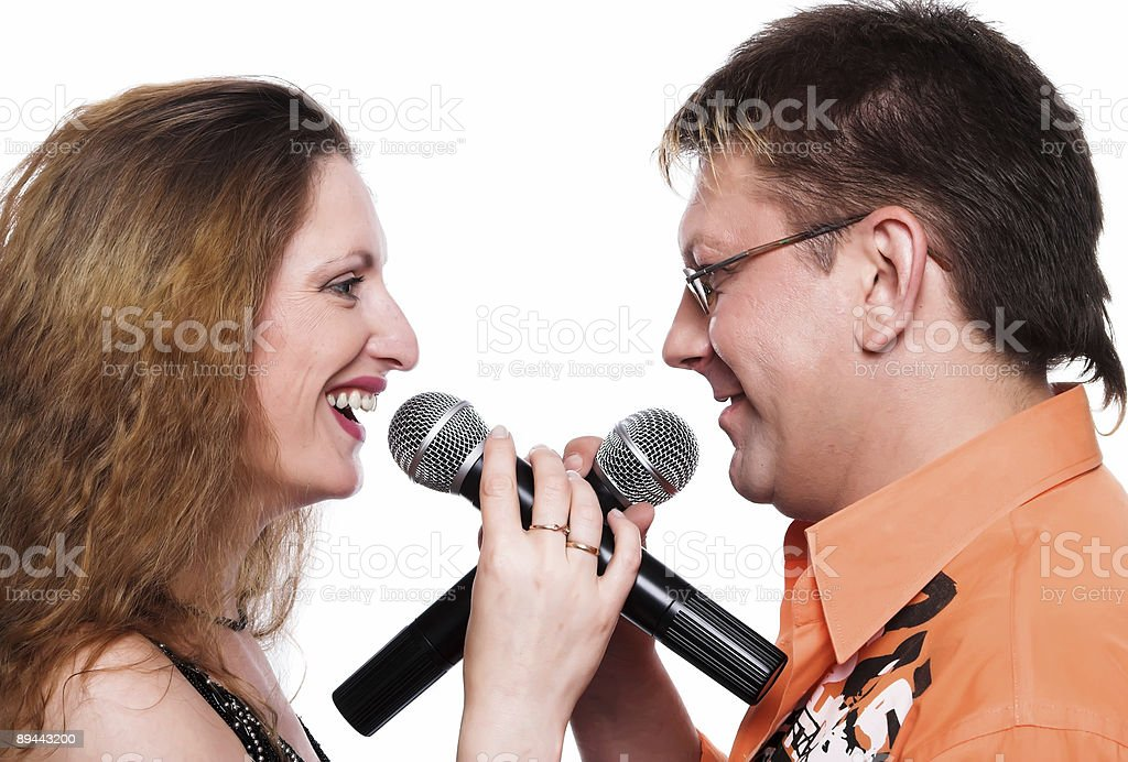 The musical duet royalty-free stock photo