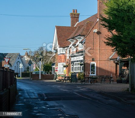 Street view of the Musketeer public house in the town of Lymington, Hampshire, UK