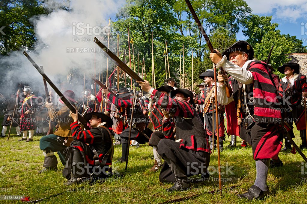 The Musketeers stock photo