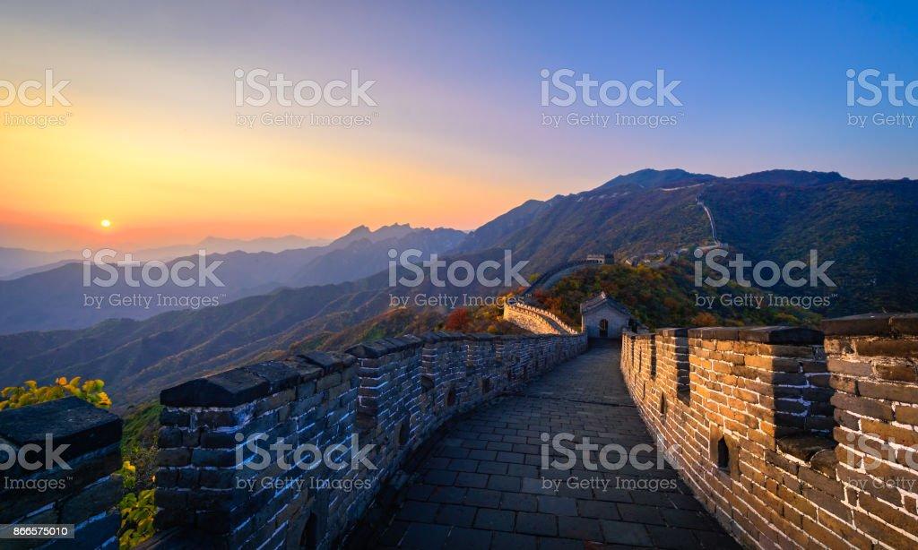 Die Mutianyu Great Wall im Herbst – Foto