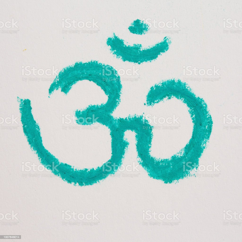 The Mystic Om Symbol Drawn In Pastel Stock Photo More Pictures Of