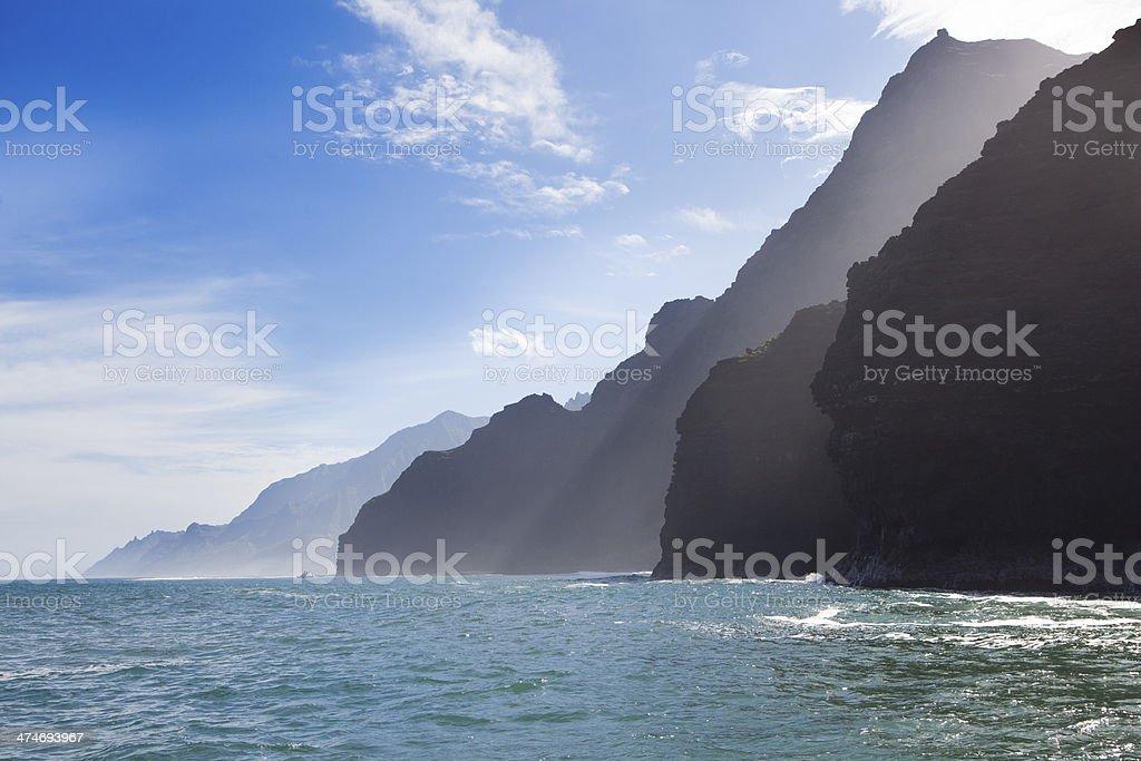 The Na Pali Coast of Kauai Hawaii stock photo