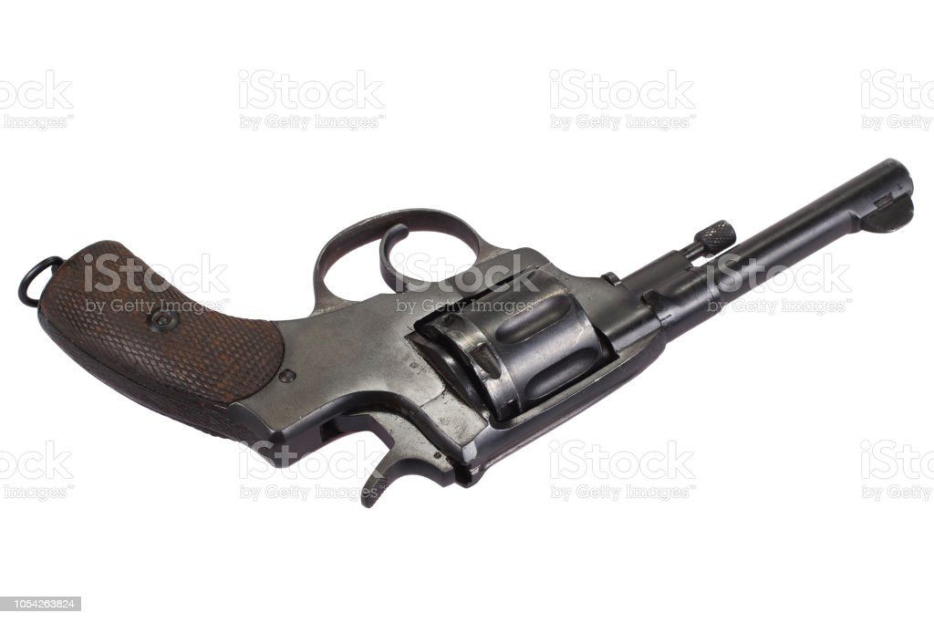 The Nagant M1895 Revolver Stock Photo - Download Image Now