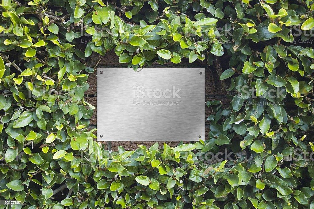 The Nameplate stock photo