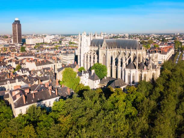 la cathédrale de nantes en france - nantes photos et images de collection