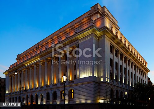 istock The National Bank Of Romania 834837816