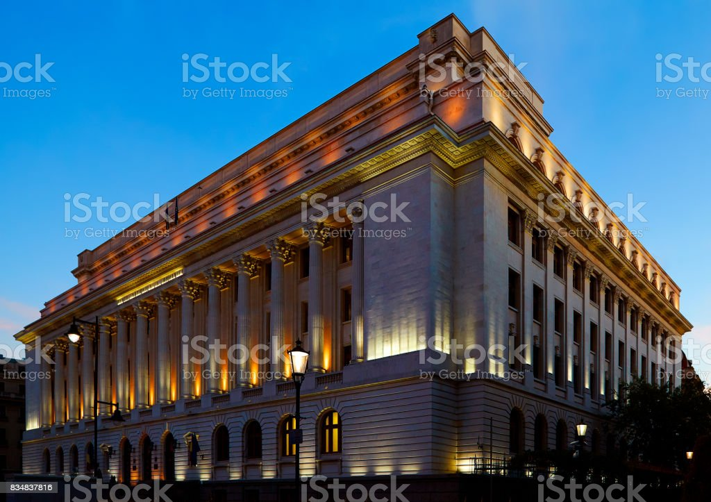 The National Bank Of Romania stock photo