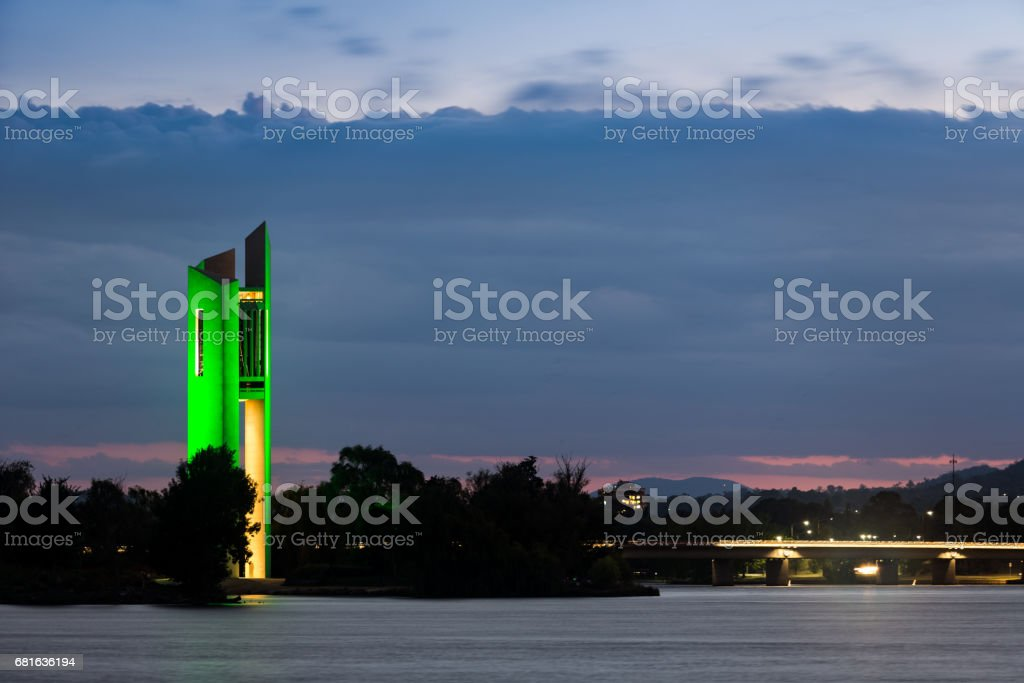 The National Carillon By The Lake Burley Griffin stock photo