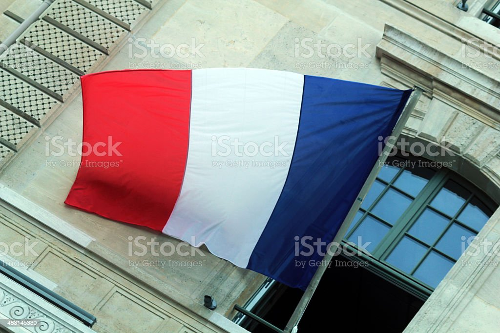 The National Ensign Of France stock photo