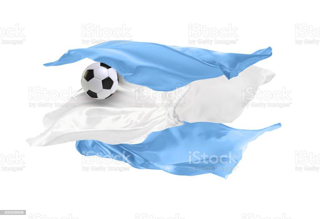 La bandera nacional Argentina. - foto de stock