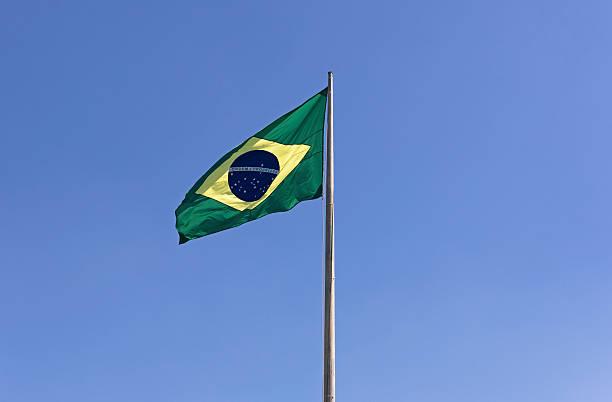 die nationalen flagge von brasilien, horizontale - freistaat stock-fotos und bilder