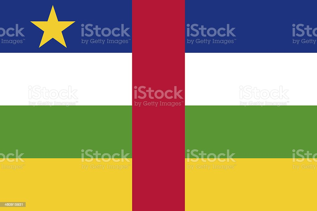 The National flag of Central African Republic stock photo