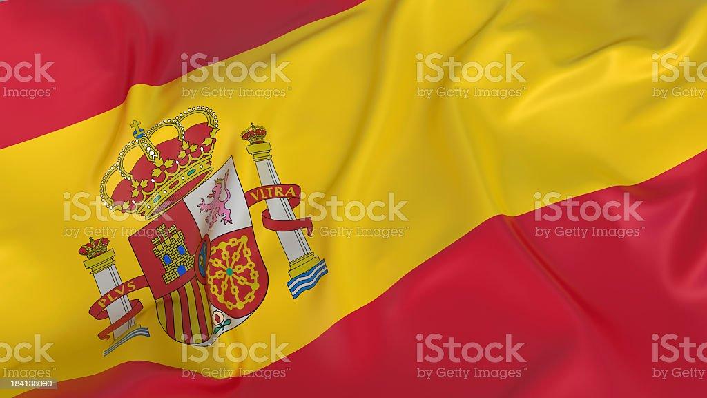 Maestoso bandiera spagnola - foto stock