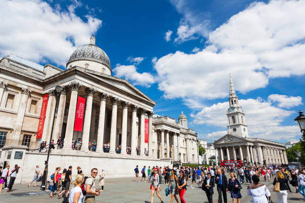 The National Gallery in London, editorial stock photo