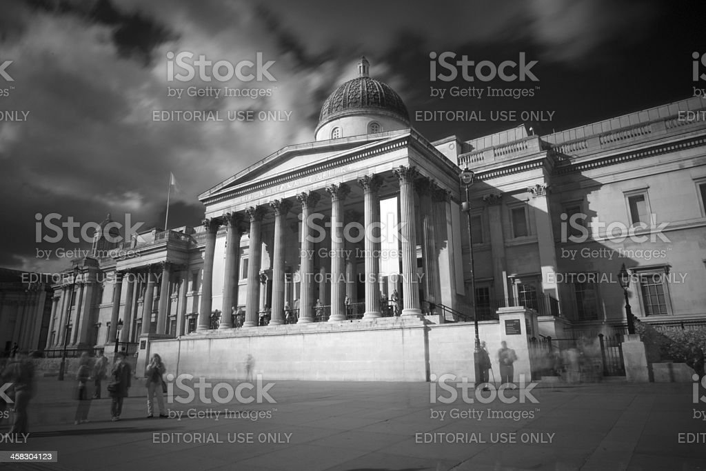 The National Gallery In London royalty-free stock photo