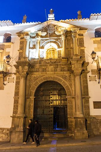 The National Mint of Bolivia (Casa de la Moneda) in a historic center of Potosi, Bolivia.