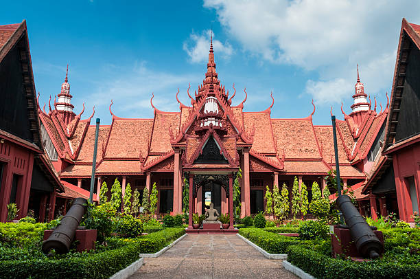 The National Museum In Phnom Penh, Cambodia stock photo