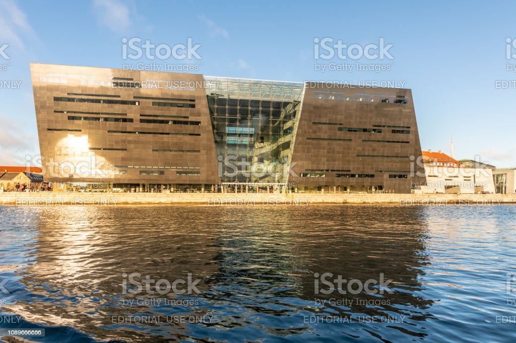 The National Museum Of Photography from the canal in Copenhagen, Denmark stock photo
