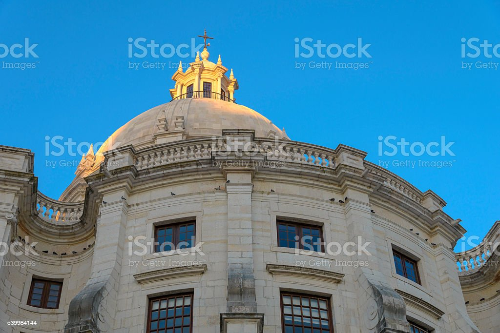 The national Pantheon, Alfama district in Lisbon stock photo
