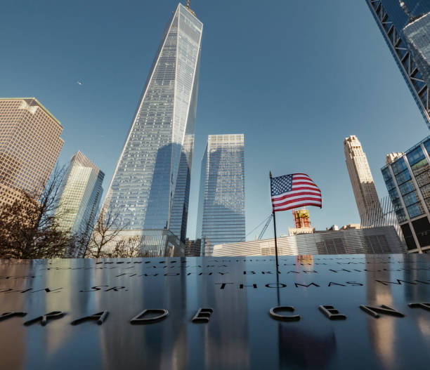 De nationale 11 september Memorial en Museum New York City foto