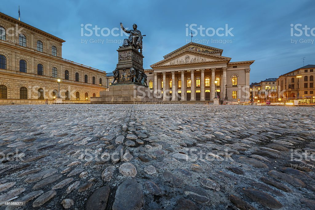 The National Theatre of Munich, Located at Max-Joseph-Platz stock photo