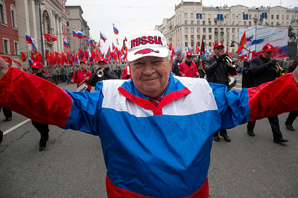 the National Unity Day in Moscow stock photo
