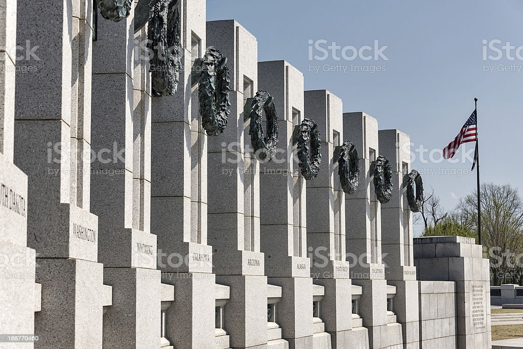 The National World War II Memorial in Washington, DC stock photo