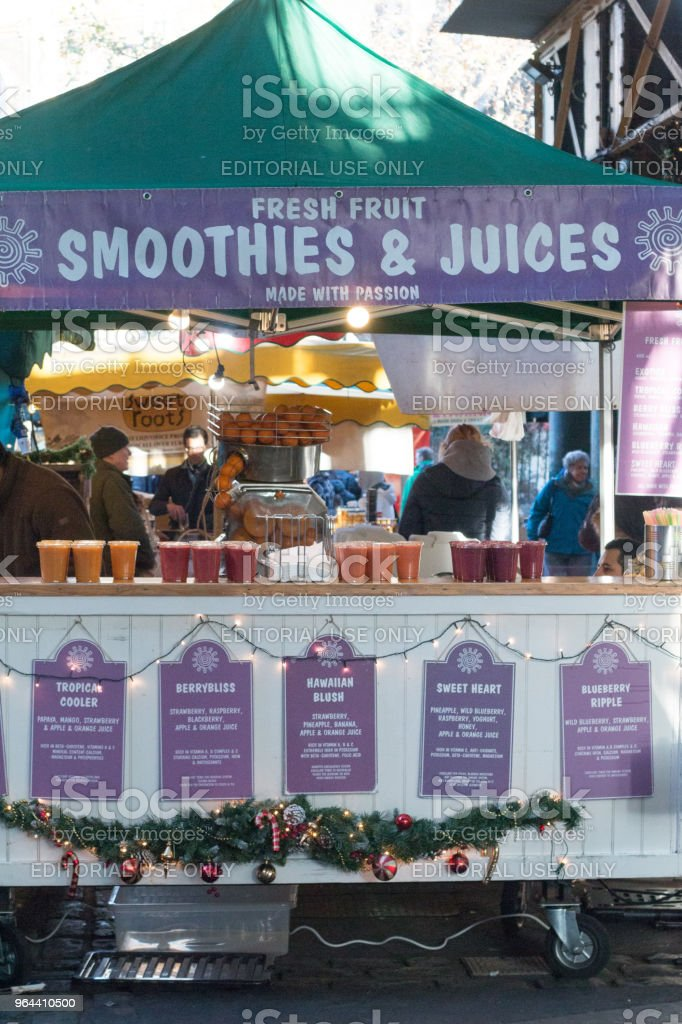 The Natural Smoothie in Borough Market, London - Royalty-free Artisanal Food and Drink Stock Photo