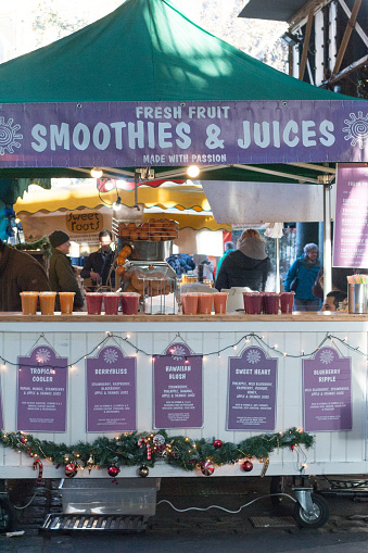 The Natural Smoothie In Borough Market London Stock Photo - Download Image Now