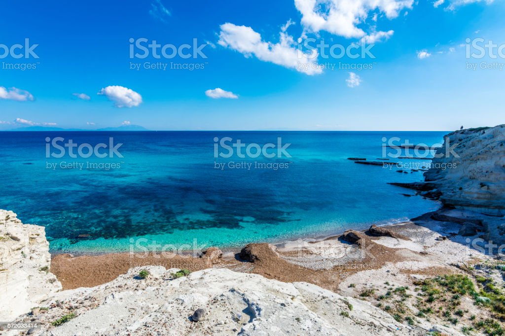 The nature of Alacati Town in the Turkey stock photo