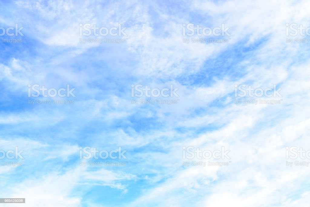 The nature of blue sky with cloud in the morning. zbiór zdjęć royalty-free