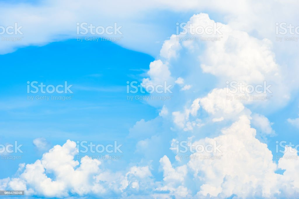 The nature of blue sky with cloud in the morning. royalty-free stock photo